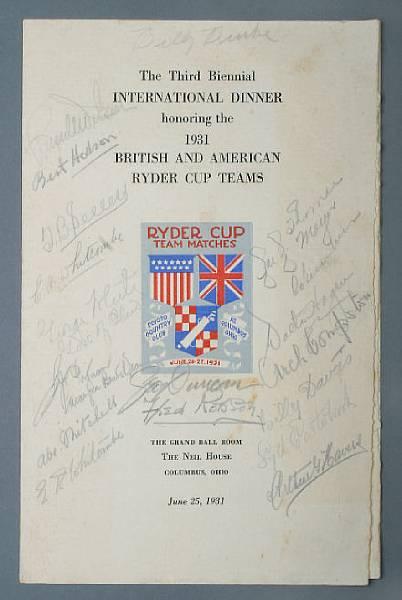 Ryder Cup 1931